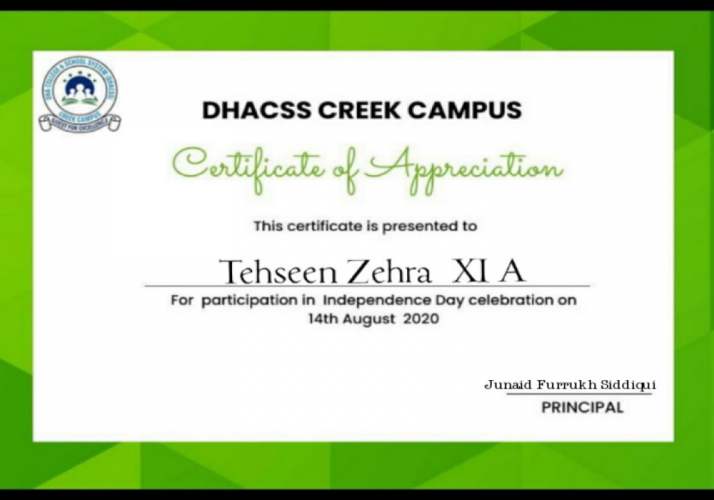Online Certificates of Appreciation