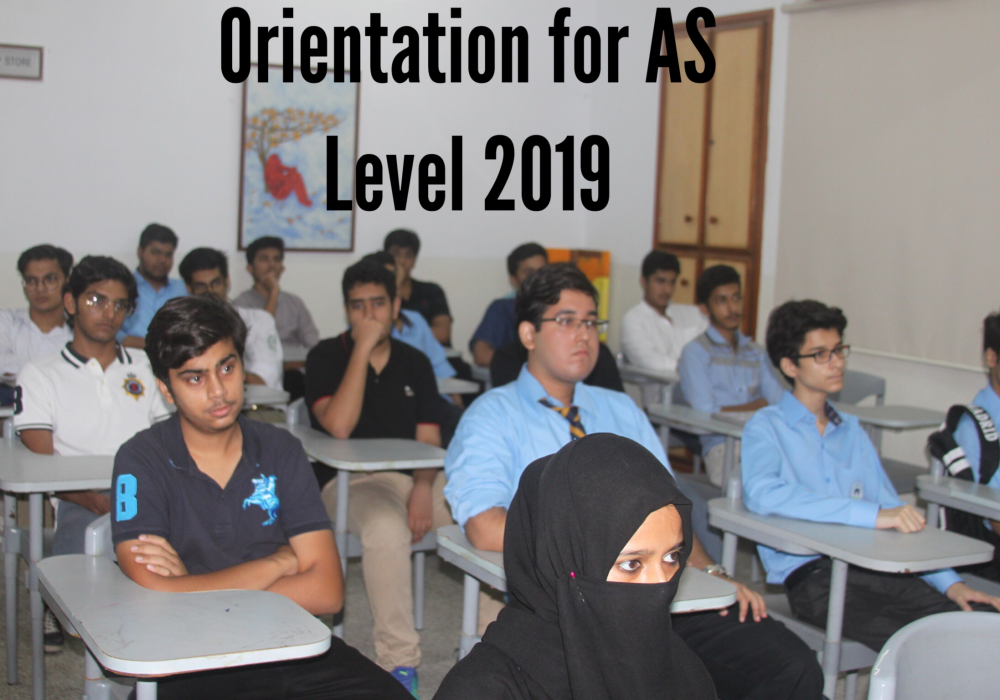 Orientation for AS Level