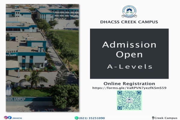 ADMISSIONS OPEN FOR A'LEVEL SESSION 2020-2021